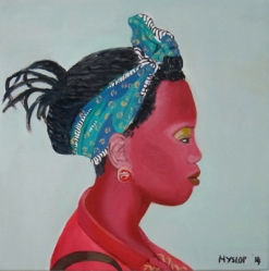 Tshepi 50 x 50cm oil on canvas 2014